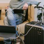 SULEMA Maleta de Cabina con Carga USB