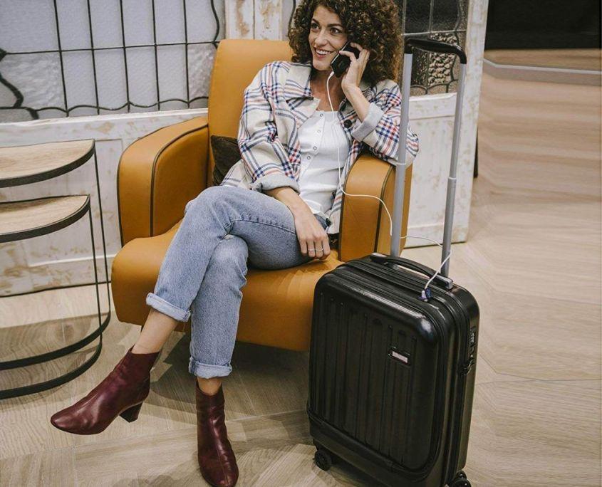 ✈ Maleta de Cabina SULEMA con 【Carga USB ⚡】 para Equipaje de Viaje 7