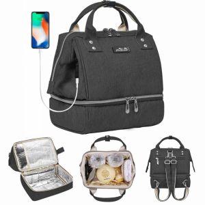 Mini Mochila Bolso de Almuerzo y de Pañales Aislada con USB