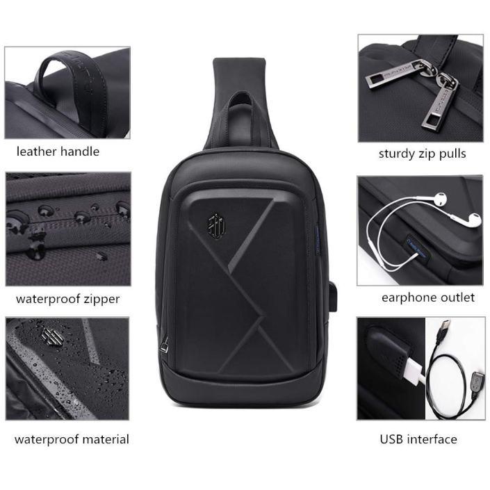 Bandolera con USB para Hombre Impermeable - ARCTIC HUNTER