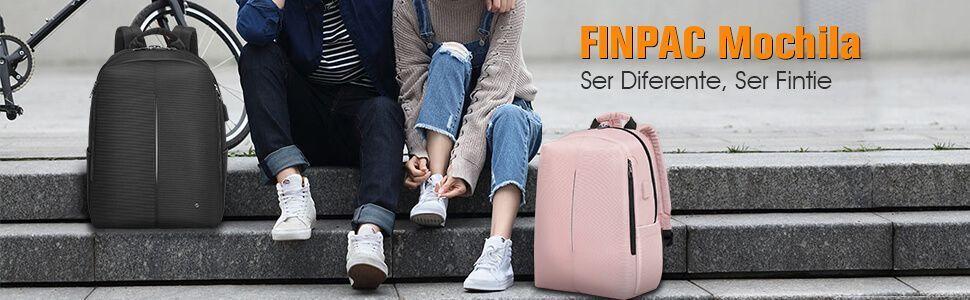 Chicos con mochila | Mochila Inteligente con Puerto de Carga USB - FINPAC 9 color rosa