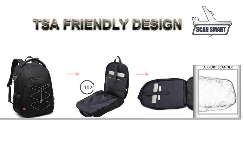 mochila antirrobo impermeable con usb y candado tsa