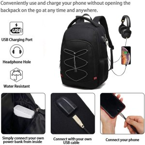 mochila backpack antirrobo impermeable con puerto usb