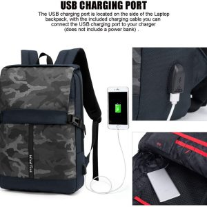 mochila con cargador usb amazon WIND TOOK