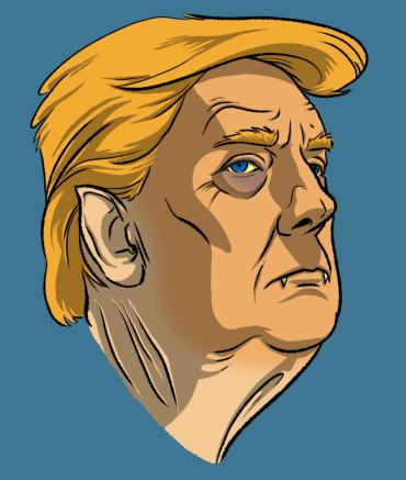 Undead Presidents Trump Vampire Headre