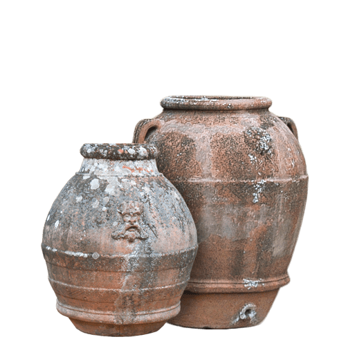 Tuscan Tall Pottery Vases