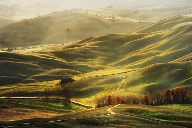 The dappled hills of the Crete Senese