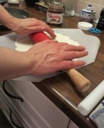 ..kavla den glutenfria degen om det behövs...