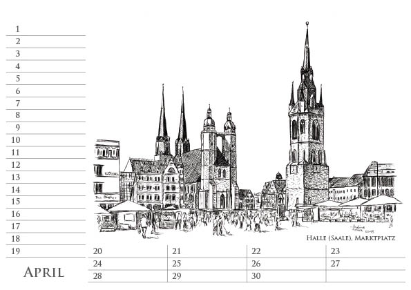 Sachsen-Anhalt Geburtstags Kalender, April