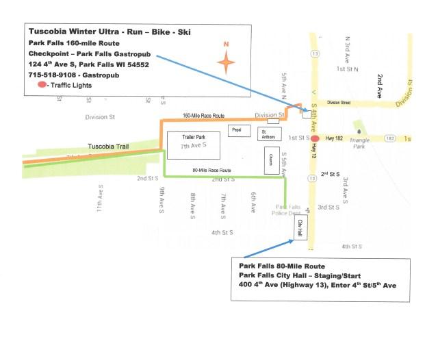 Park Falls Map