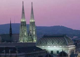 Vista nocturna Viena
