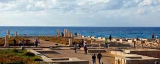 Cesarea Marítima, uno de los mayores yacimientos arqueológicos de la costa de Israel