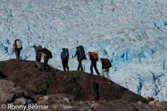 Saliendo del glaciar Neff