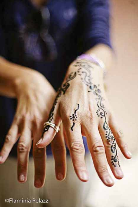 Típico tatuaje con henna