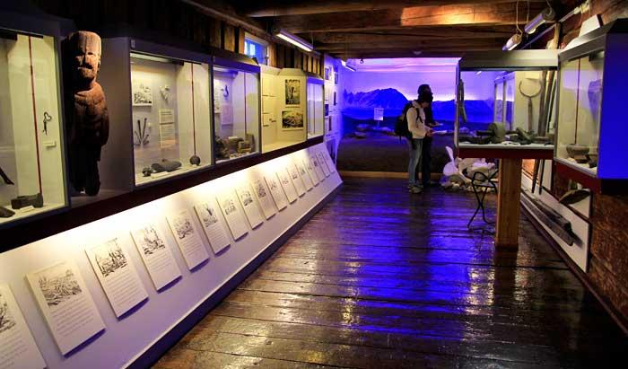 Una de las diez salas del Museo Polar de Tromsø