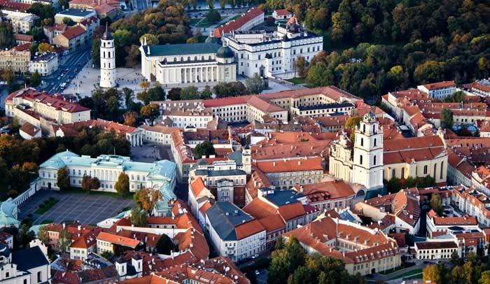Vista aérea de Vilnius