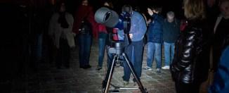 Observación de estrellas en el Monasterio de Poblet. Foto: Sternalia/Anna Bosch