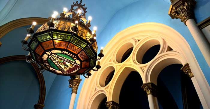 Detalle del Santuario de Núria