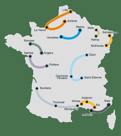 10 rutas, 24 ciudades de Francia