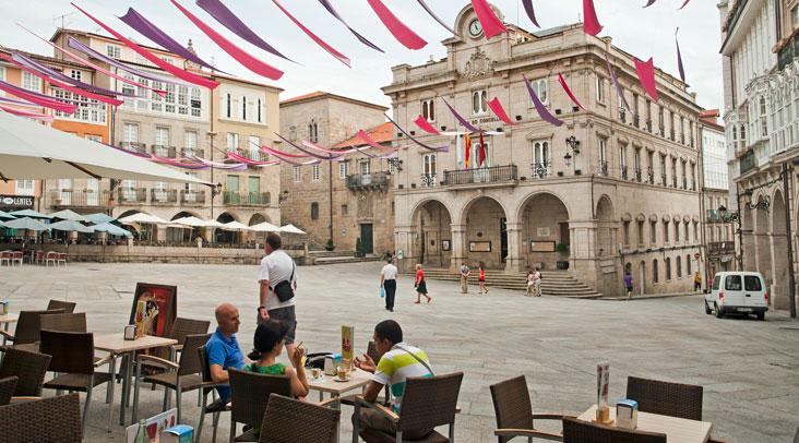 Plaza Mayor de Ourense. Foto Turismo de Ourense.