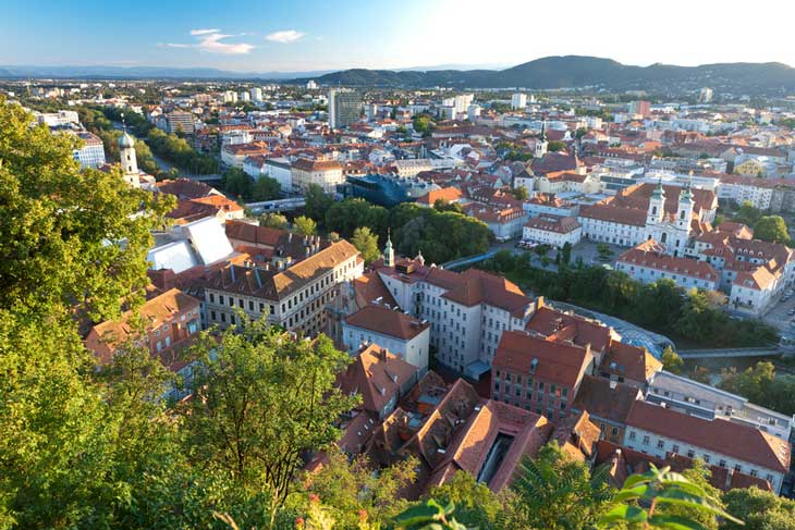 Graz © Steiermark Tourismus, Fotógrafo Harry Schiffer
