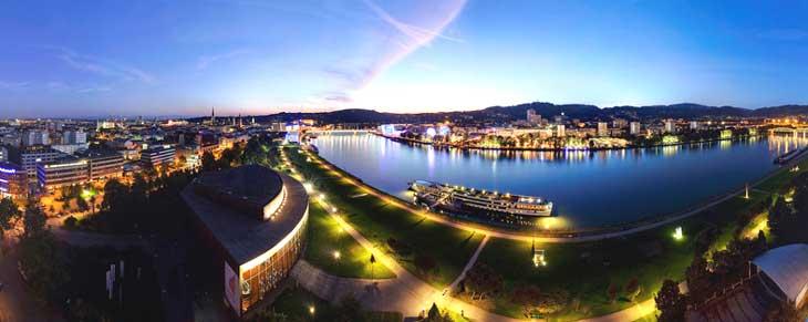 Panorámica de Linz © Linz Tourismus , Fotograf: J. Steininger