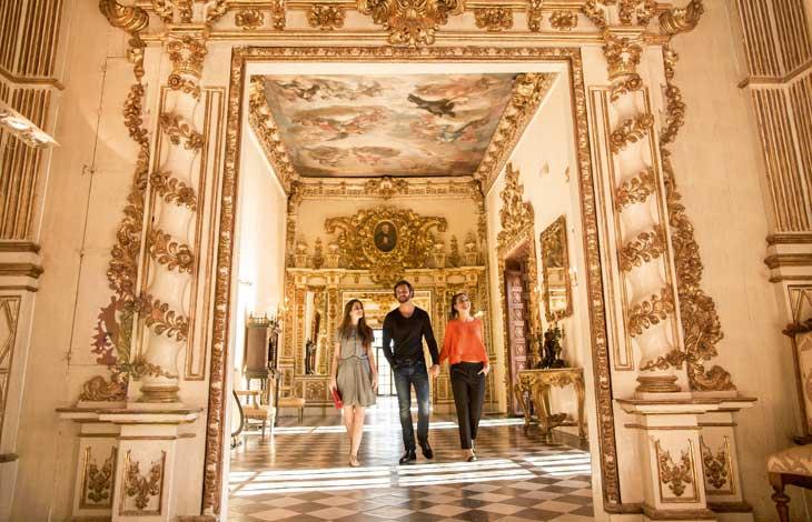 Galería Dorada, uno de los lugares más bellos del Palacio Ducal de Gandía