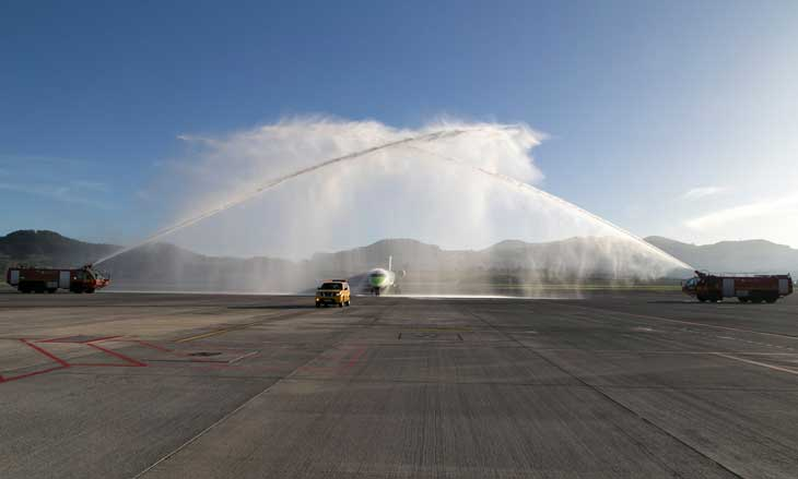 Vuelo inaugural de Binter Lisboa Tenerife Norte