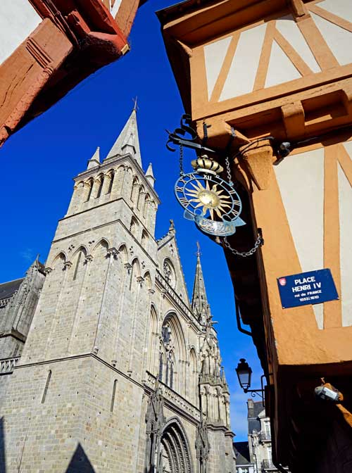 Fachada de la catedral de Vannes