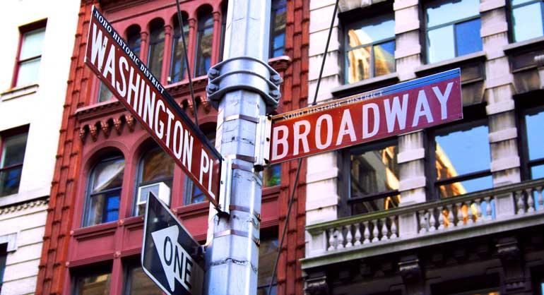 La calle Broadway es uno de los ejes turísticos de Nueva York