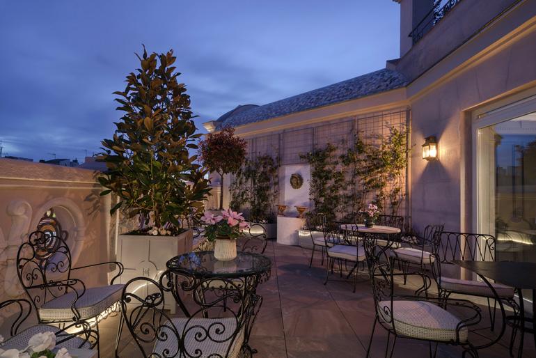 Terraza Hotel Heritage Madrid