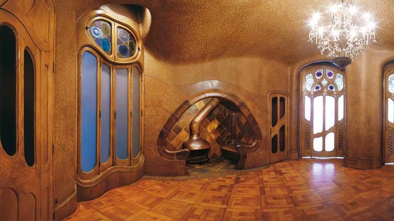 Sala de la chimenea en Casa Batlló