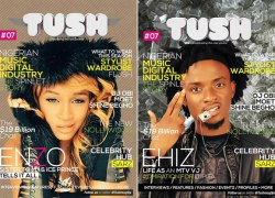 MTV-Base Star Host Ehiz & Choc Boi Nation's Enzo Grace Tush Magazine Issue 7 Cover Page