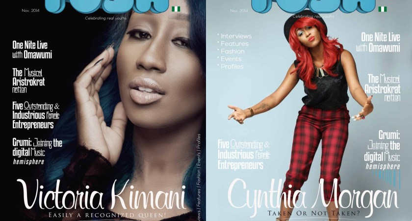 An All Diva Affair!  Tush Magazine Releases 9th Issue With Victoria Kimani & Cynthia Morgan As Its Cover Page Personalities.