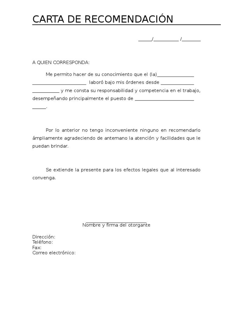 Imgenes De Carta De Recomendacin Imgenes