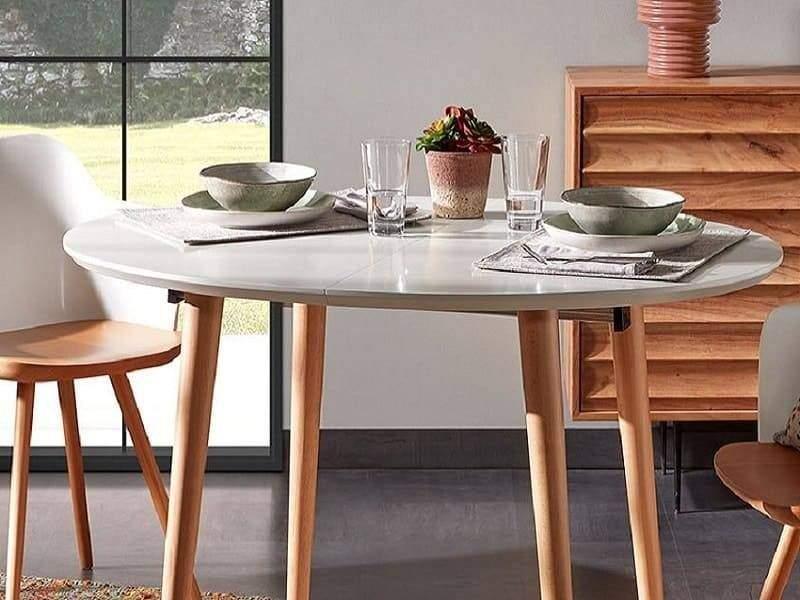 table ronde extensible oakland style nordique 120 cm en promotion