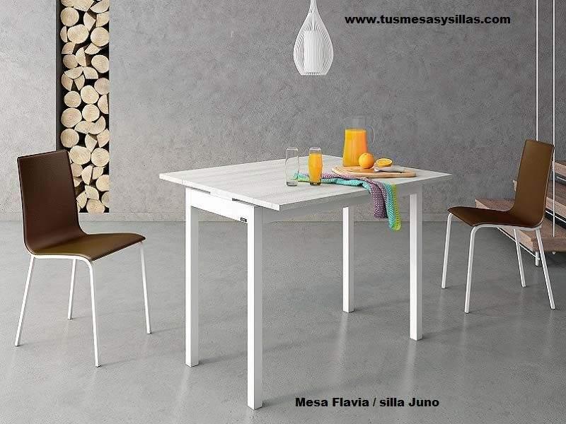 petite table extensible flavia avec 45 ou 50 cm de profondeur rallonges avant
