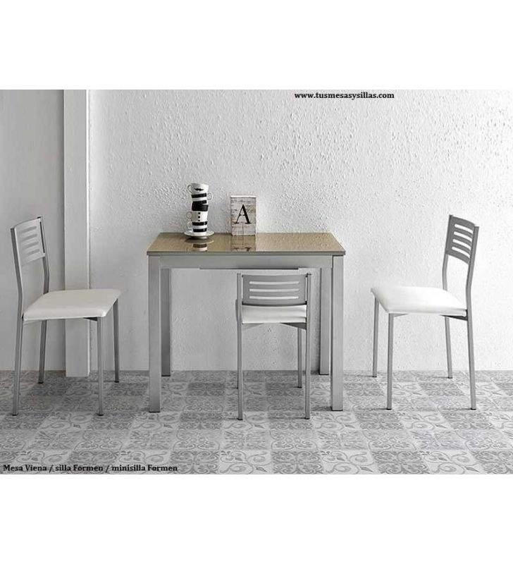 petite table de cuisine extensible etroite vienna profondeur 45 50 cm