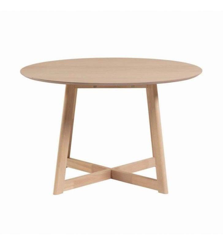 table ronde extensible avec ailes pliantes de 120 cm de diametre en bois