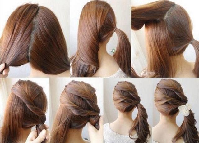 coleta de lado - Peinados Bonitos