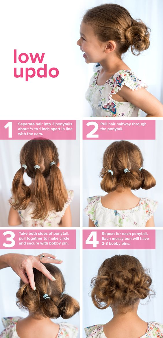 kids hairstyles low up-do