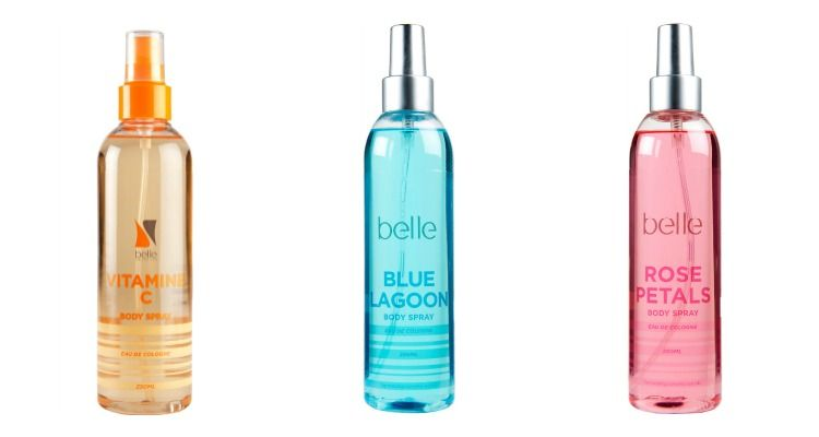 body spray belle cosmetics