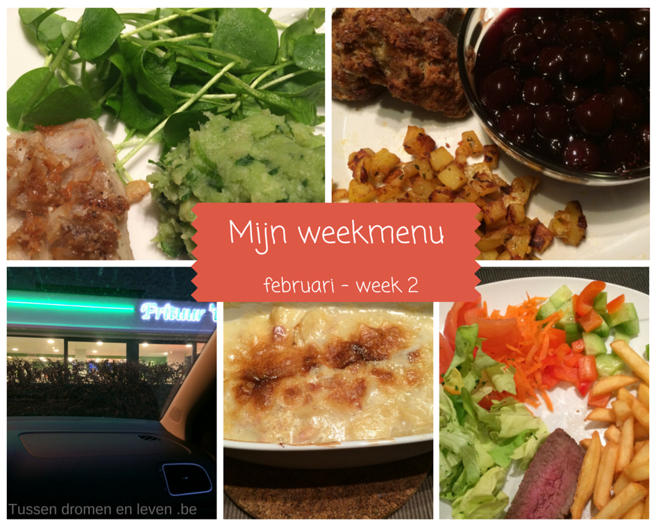 Mijn weekmenu – februari week 2