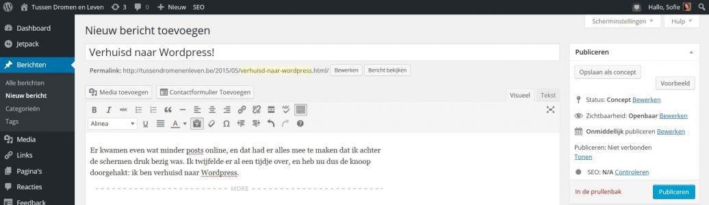 Verhuisd naar WordPress!