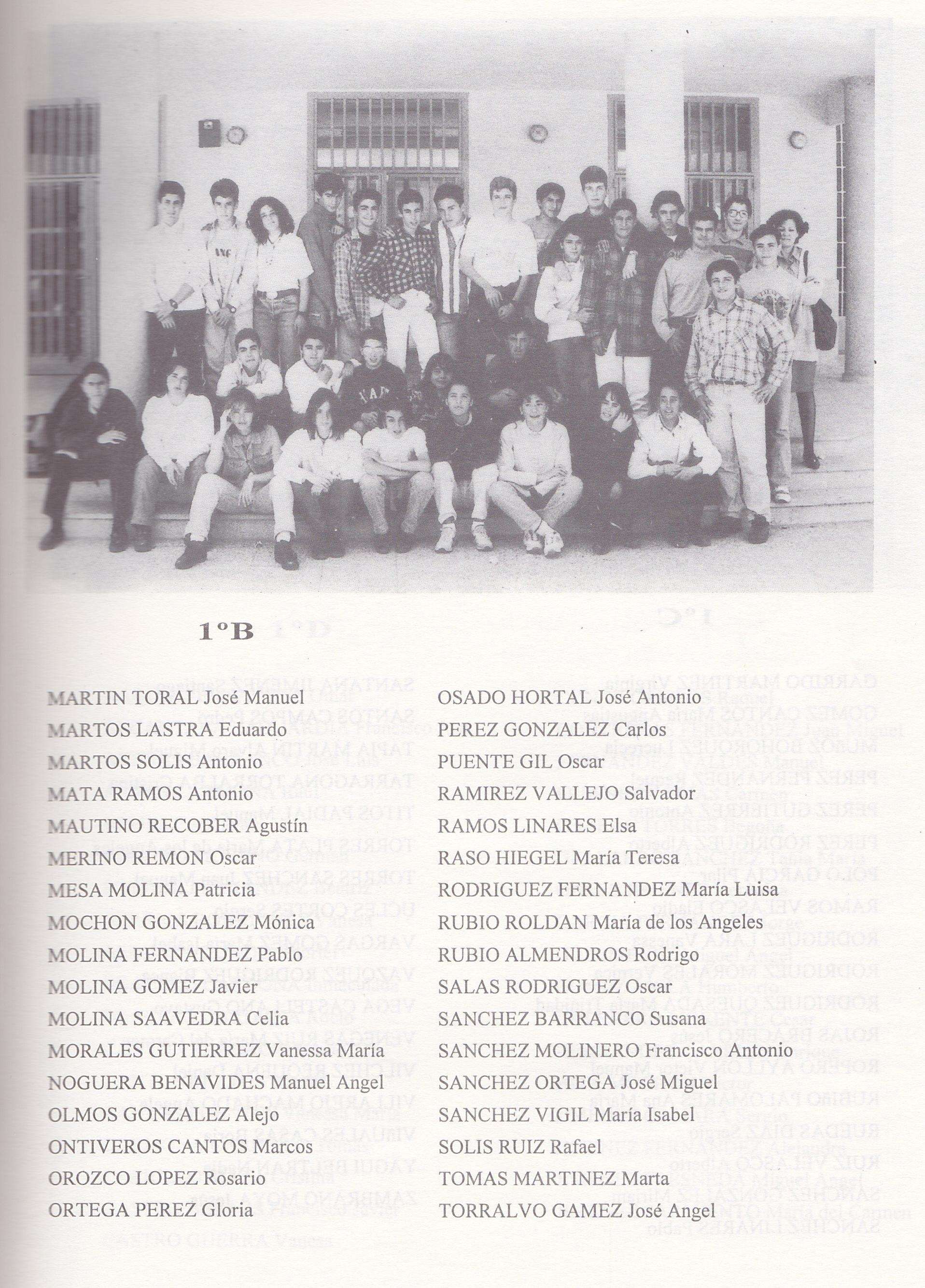 1º BUP B (curso 1993-1994)