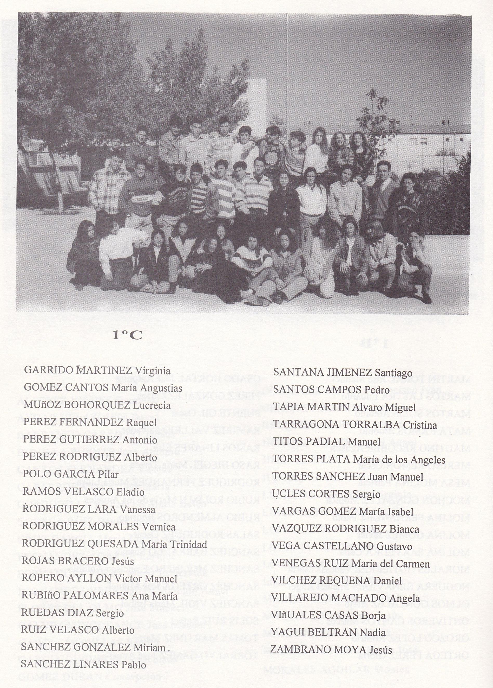 1º BUP C (curso 1993-1994)