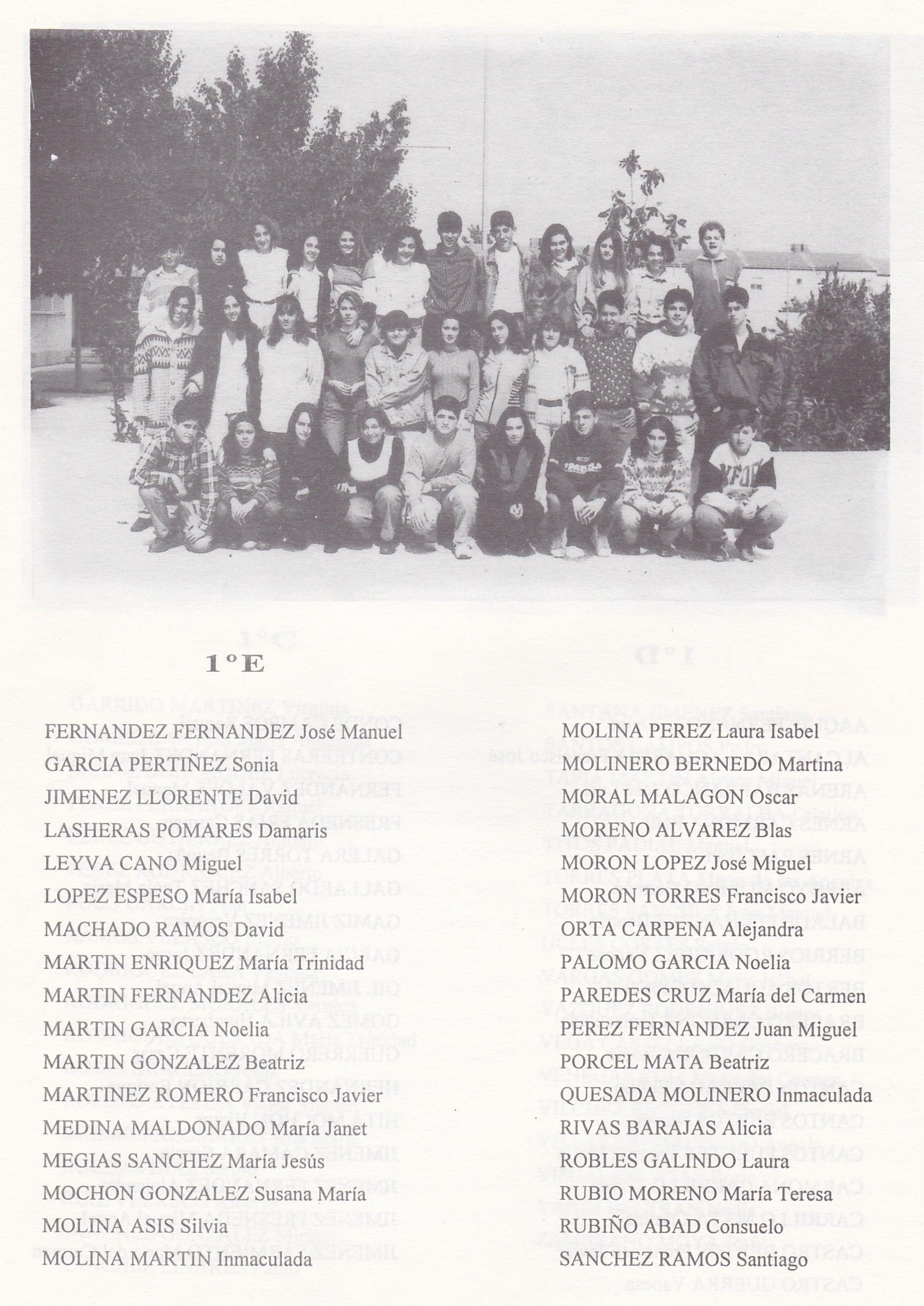 1º BUP E (curso 1993-1994)