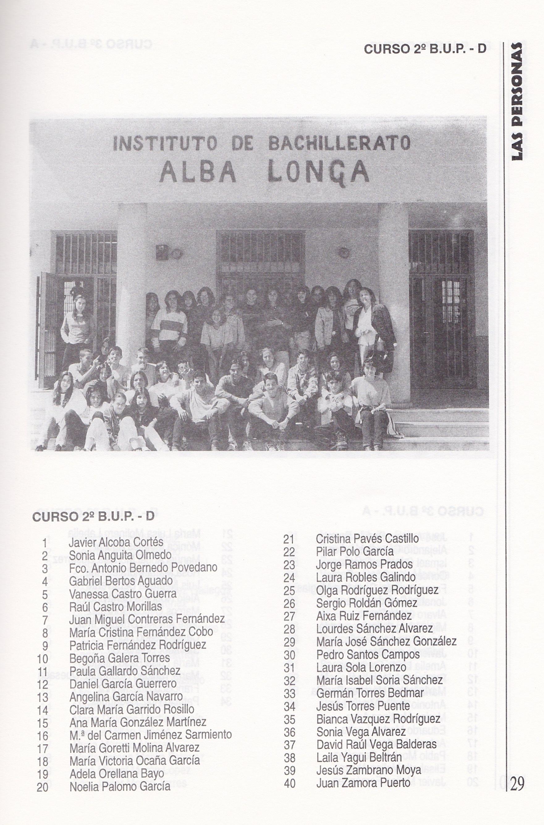 2ºBUP D (curso 1995-1996)