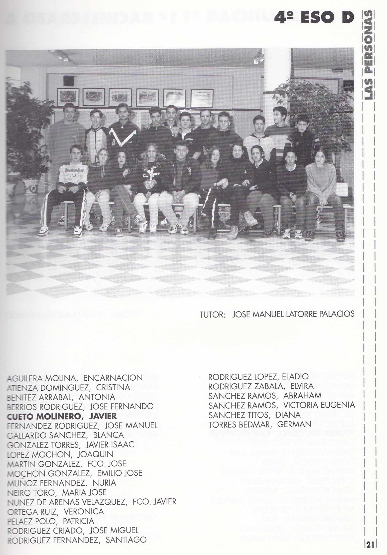 4ESO D (curso 1997-1998)