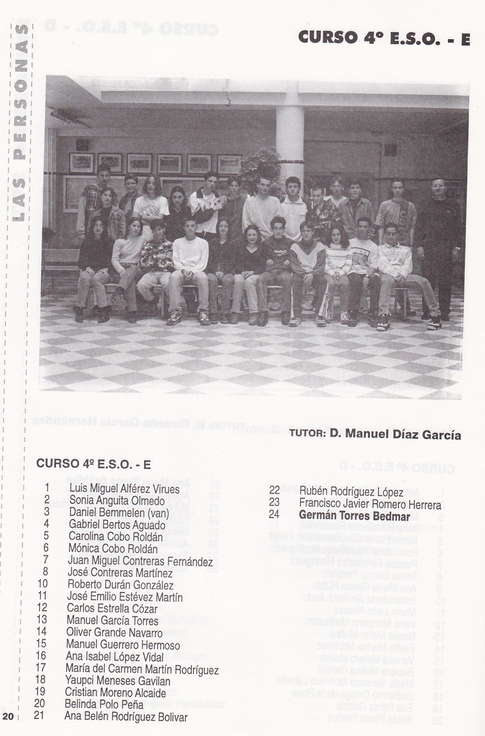 4ºESO E (curso 1996-1997)